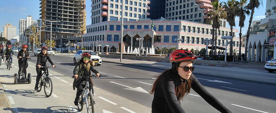 Biking in Tel Aviv